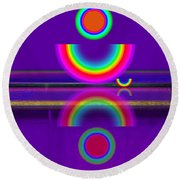 Purple Moon Round Beach Towel