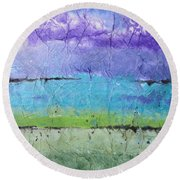 Purple Mountain's Majesty Round Beach Towel