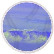 Purple Mountain's Majesty... Round Beach Towel