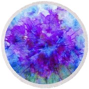 Purple Passion Hydrangea  Round Beach Towel