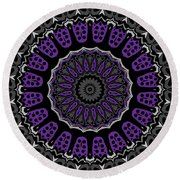 Purple Passion No. 1 Round Beach Towel