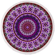 Purple Passion No. 2 Round Beach Towel