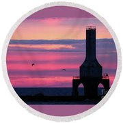 Purple Perfection In Port Round Beach Towel