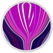 Purple Perfection Round Beach Towel