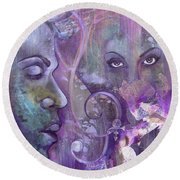 Purple Rain Round Beach Towel