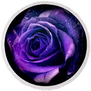 Purple Role Round Beach Towel