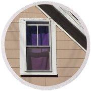 Purple Shade Composition Round Beach Towel