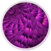 Purple Shell Round Beach Towel