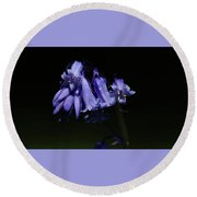 Blue Bells Round Beach Towel