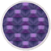 Purple Sun Deco Round Beach Towel