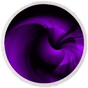 Purple Swirl Round Beach Towel
