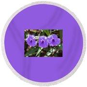 Purple Trio Round Beach Towel