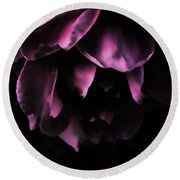 Purple Velvet Rose Round Beach Towel