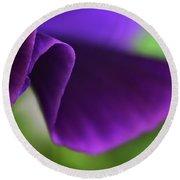 Purple Viola Wave Round Beach Towel