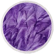 Purple Watercolor Art  Round Beach Towel