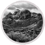 Pusch Ridge Snow No10 Round Beach Towel