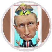 Putin 2016 Round Beach Towel