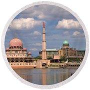 Putra Mosque Round Beach Towel