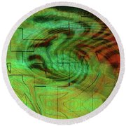 Puzzle Face Round Beach Towel