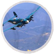 Pv-2 Harpoon At Salinas Round Beach Towel
