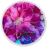 Powerfully Pink Round Beach Towel