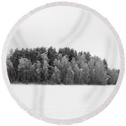 Pyhajarvi Winter 1 Round Beach Towel