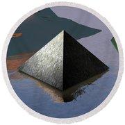 Pyramid Round Beach Towel