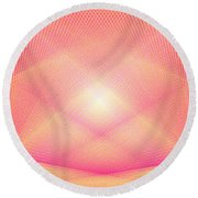Pyrotechnic Cathedral Round Beach Towel