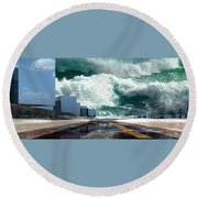 Q-city Seven Round Beach Towel