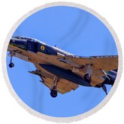 Qf-4 Phantom II 3 Round Beach Towel