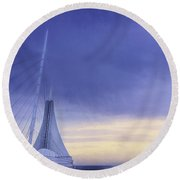 Quadracci Pavilion Sunrise Round Beach Towel