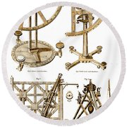 Quadrants And Sextant, 1790 Round Beach Towel