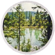 Quaint Round Beach Towel