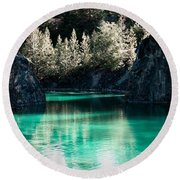 Quarry Waters Round Beach Towel