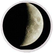 Quarter Moon Photo By W G  Smith Round Beach Towel