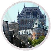Quebec City 60 Round Beach Towel