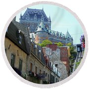 Quebec City 61 Round Beach Towel