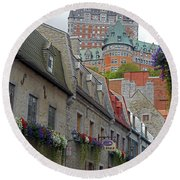 Quebec City 67 Round Beach Towel
