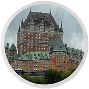 Quebec City 70 Round Beach Towel