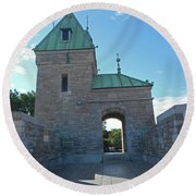 Quebec City 73 Round Beach Towel