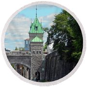 Quebec City 82 Round Beach Towel