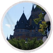 Quebec City Round Beach Towel
