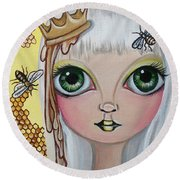 Queen Bee Round Beach Towel