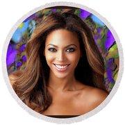 Queen Beyonce Round Beach Towel
