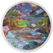 Queen City Dreaming Round Beach Towel