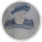 Queen Elizabeth Round Beach Towel