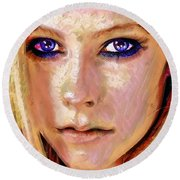 Queen Lavigne Round Beach Towel