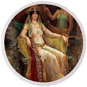Queen Of Sheba Round Beach Towel