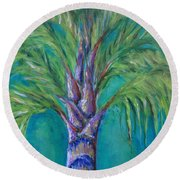 Queen Palm Round Beach Towel