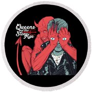 Queens Of The Stone Age Round Beach Towel